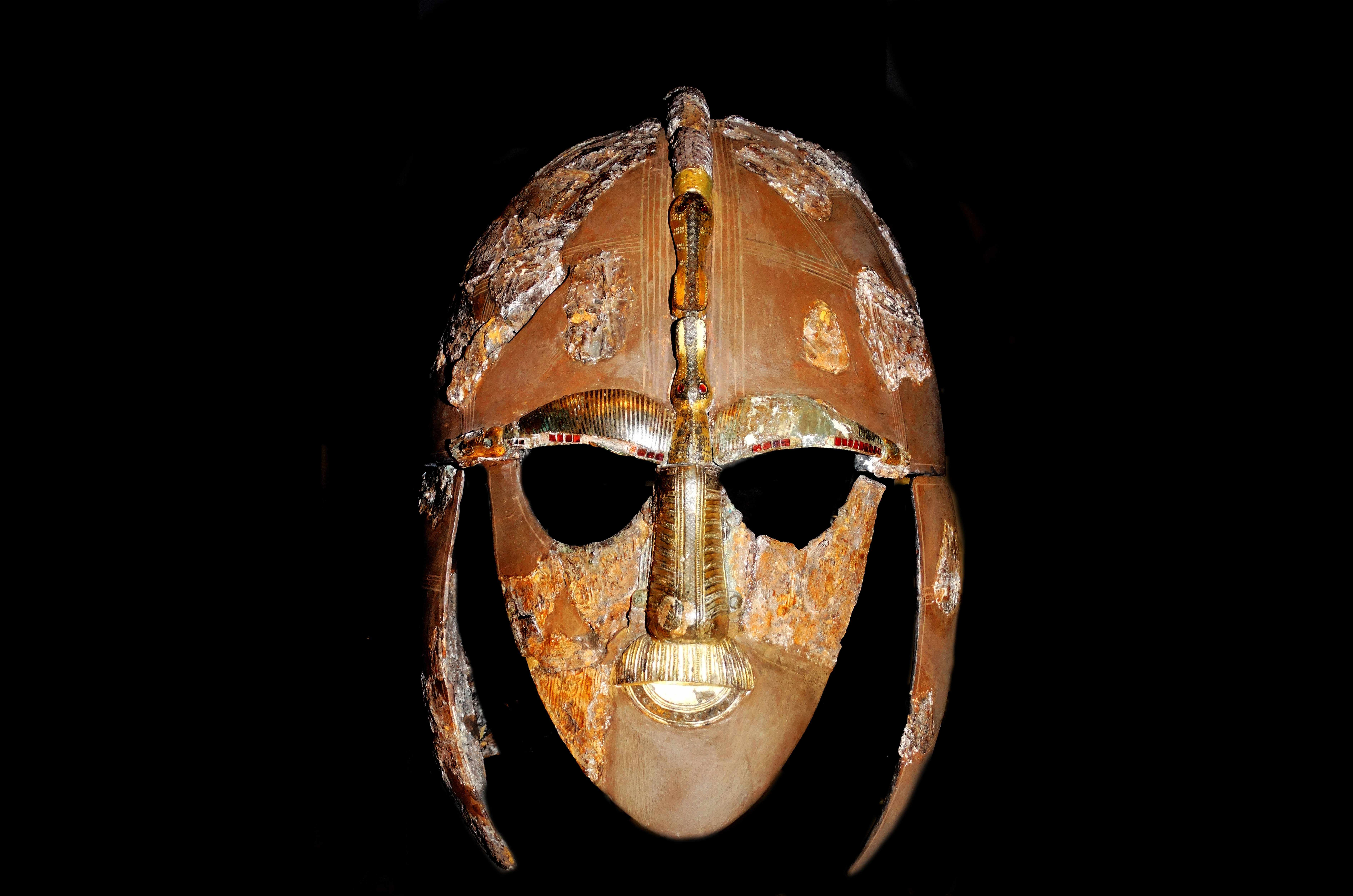 Anglo-Saxon helmet from Sutton Hoo. © Getty