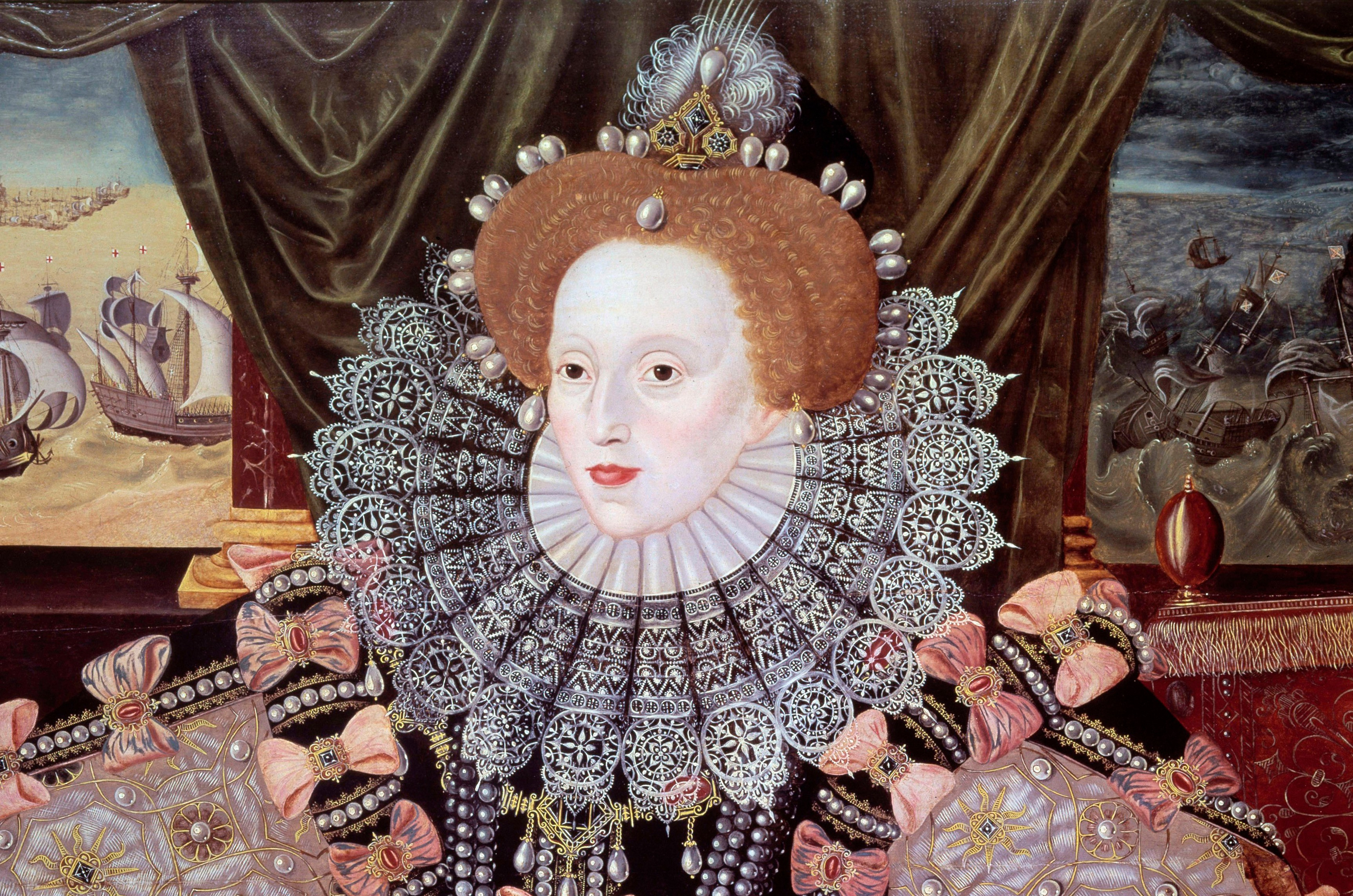 Portrait of Queen Elizabeth I of England known as the Armada portrait by Marcus Gheeraerts. © Getty