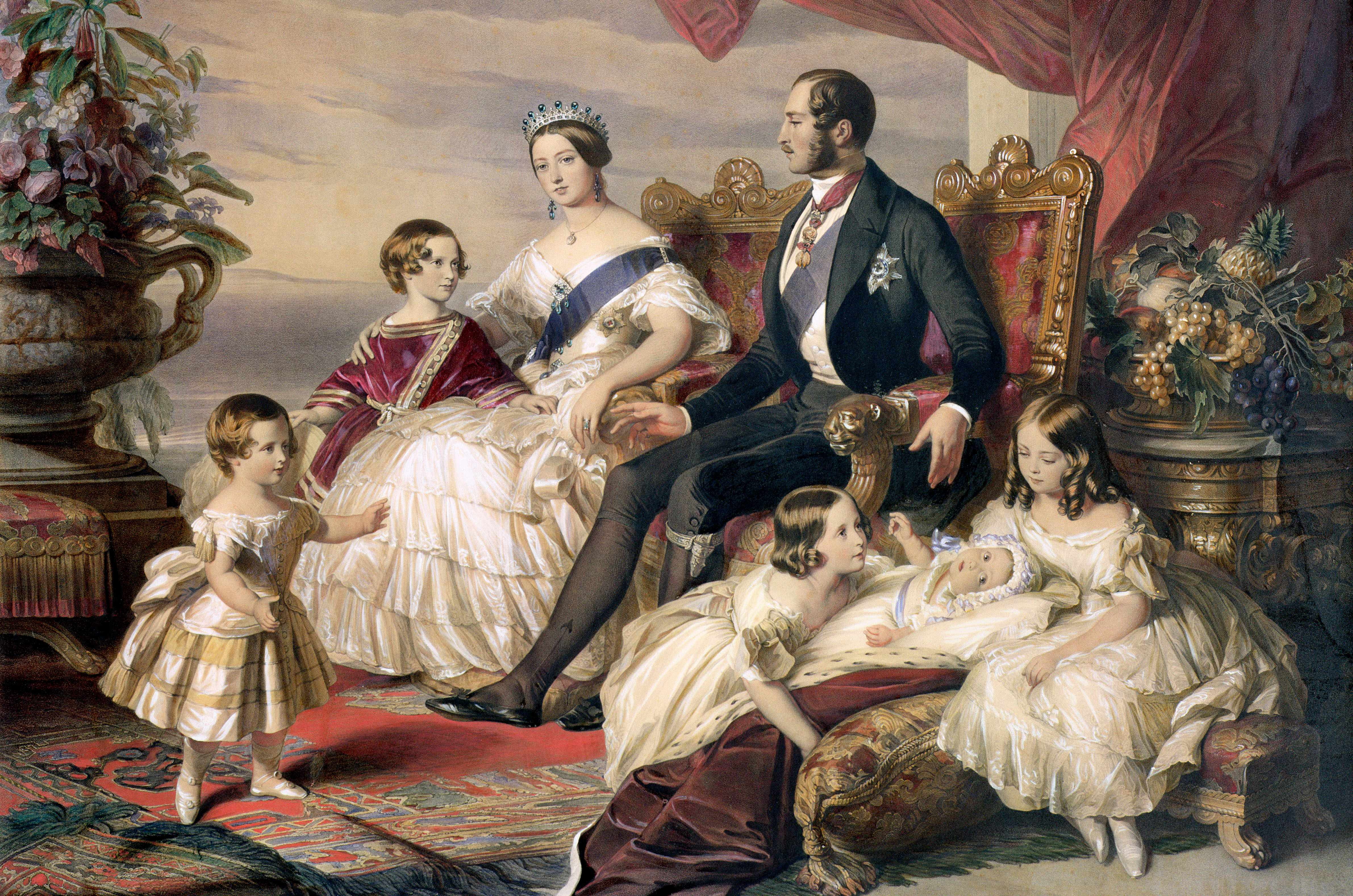 Queen Victoria and Prince Albert with Five of their Children, 1846. © Getty
