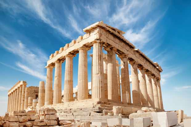 Parthenon on the Acropolis in Athens, Greece. © Getty