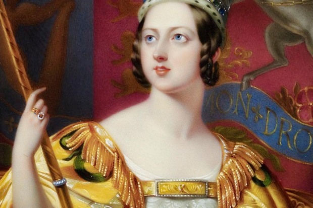 H31F3N Portrait of Queen Victoria in her coronation robes   1838