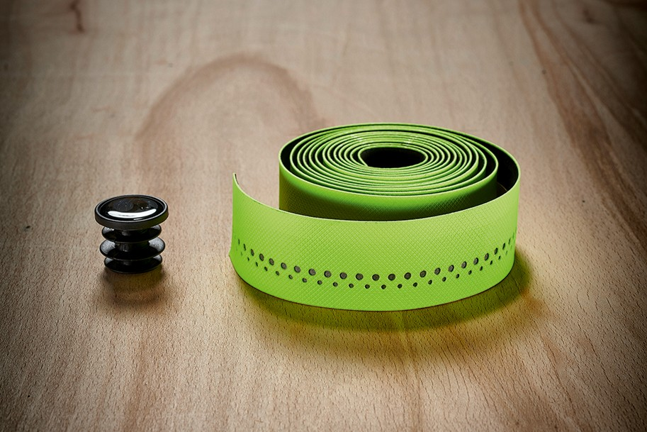 lime green bar tape from Bontrager