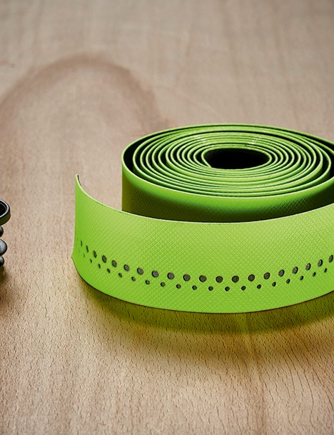 lime green bar tape from Bontrager