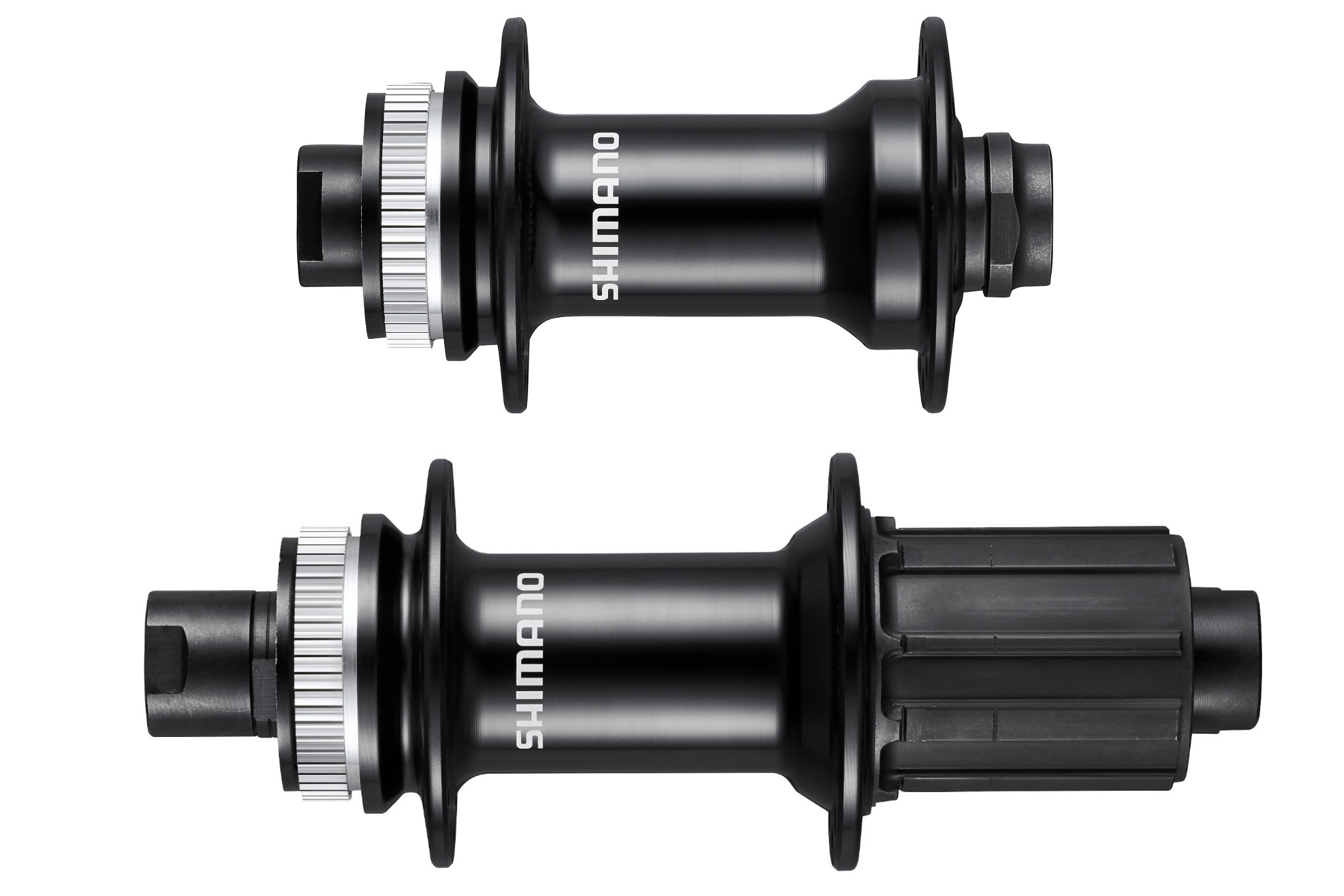 Front and rear bicycle hubs