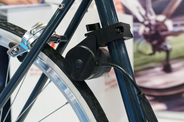 Revos e-bike conversion kit on tyre