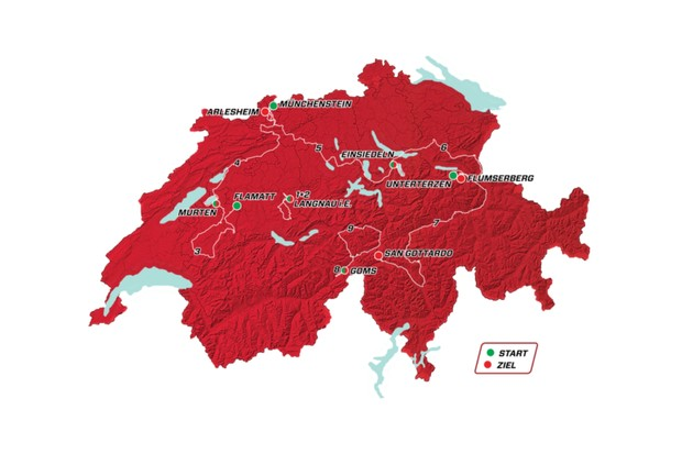 Tour de Suisse 2019 Stage Plan