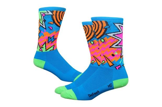 Defeet Aireator 6-inch Shazam socks