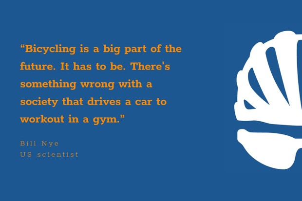 Bill Nye inspirational cycling quote