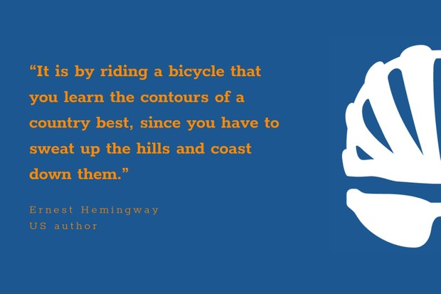 Ernest Hemingway inspirational cycling quote