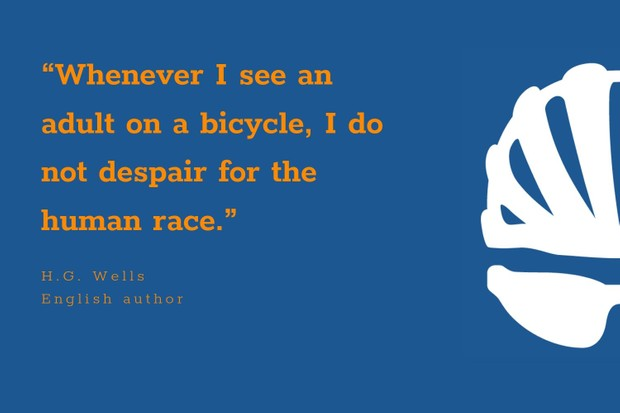 HG Wells inspirational cycling quote