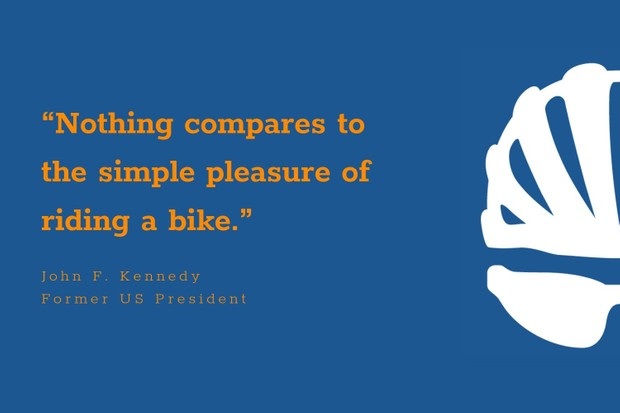 John F Kennedy inspirational cycling quote