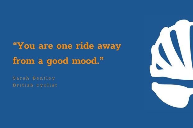 Sarah Bentley inspiration cycling quote
