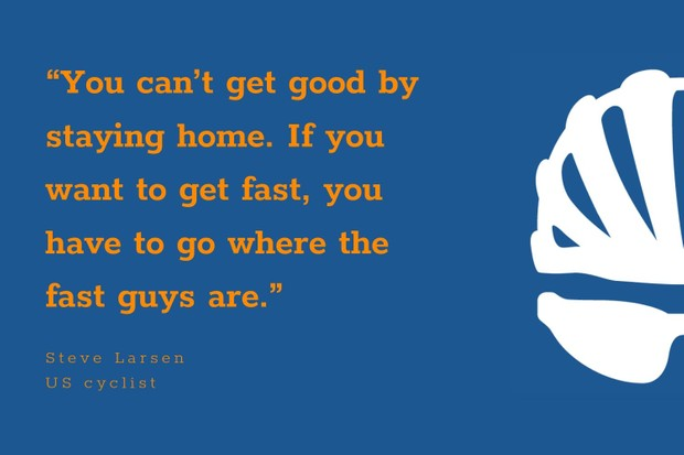 Steve Larsen inspirational cycling quote