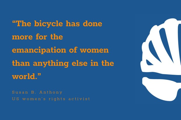 Susan B Anthony inspirational cycling quote