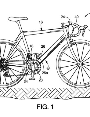 The patent supplies an overview of a regular bicycle fitted with a Di2 drivetrain, just in case you forgot what one looks like