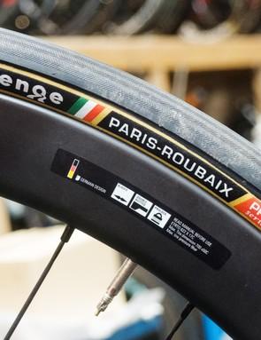 Challenge's Paris Roubaix tyres looking resplendent with their tan walls