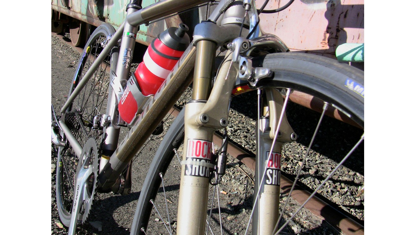 The RockShox Roubaix was an early attempt to put suspension on road bikes