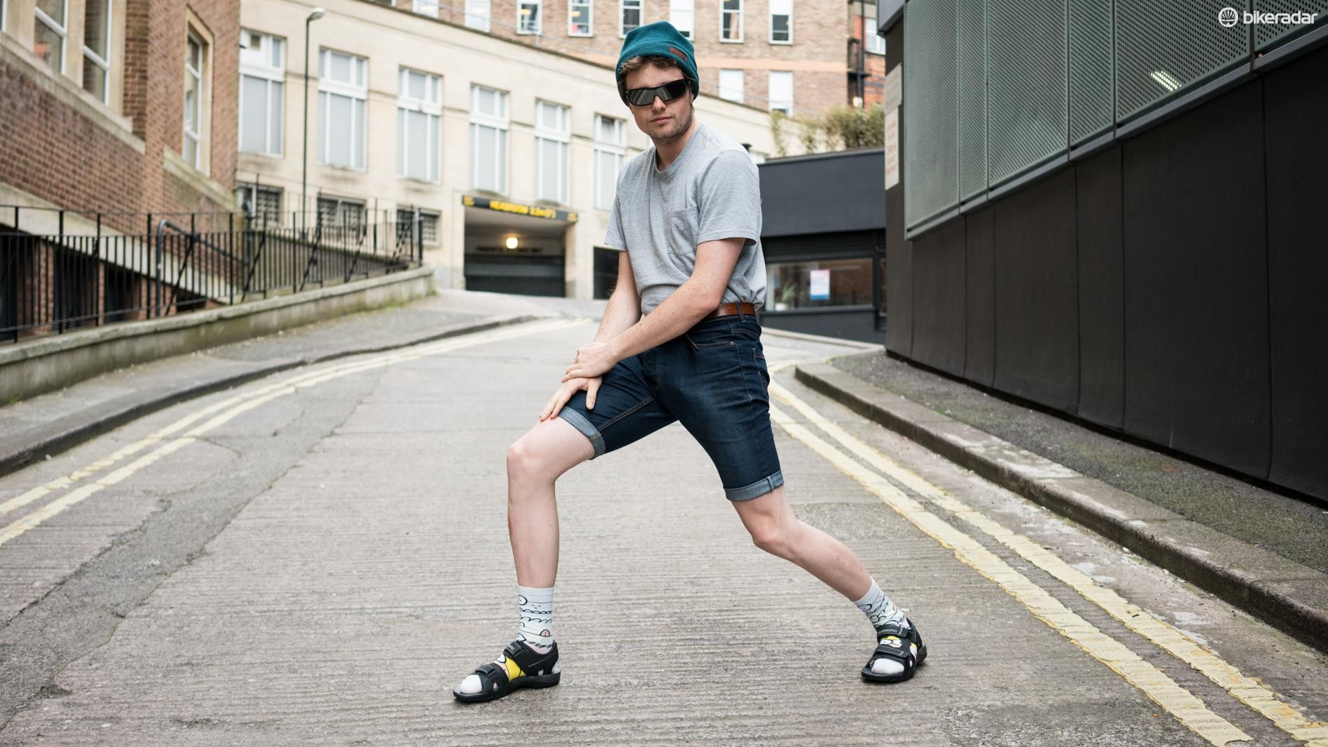 It's pretty much mandatory that you model the sandals with socks