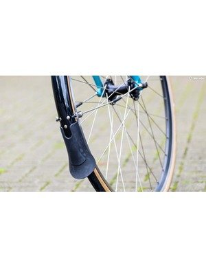 The Flyer comes fitted with proper full cover mudguards