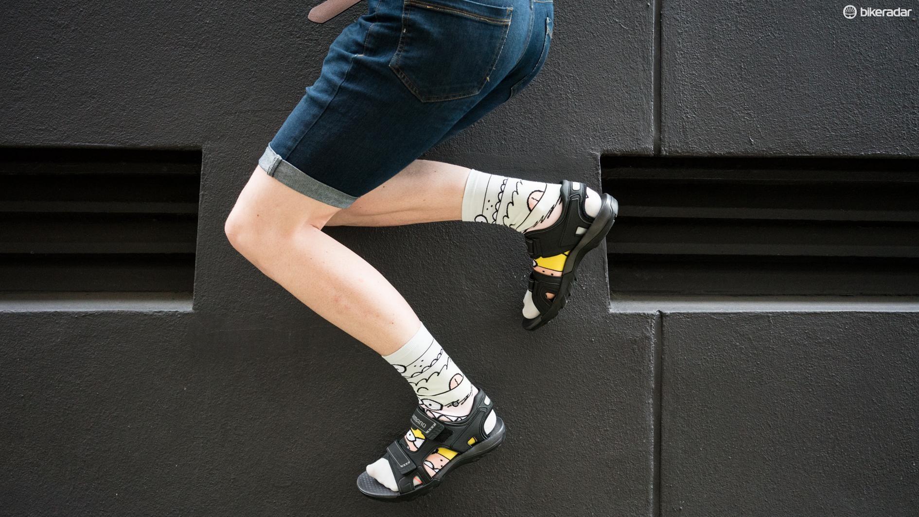 The sandals are also parkour compatible