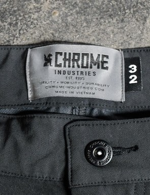 The trousers are made from a fancy four-way stretch fabric