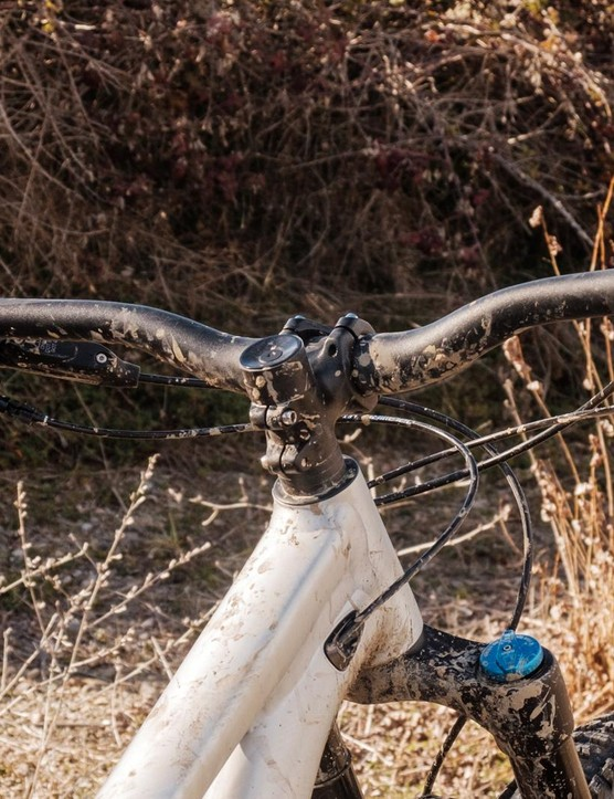 The front end is ever so slightly lower than the regular Stumpjumper