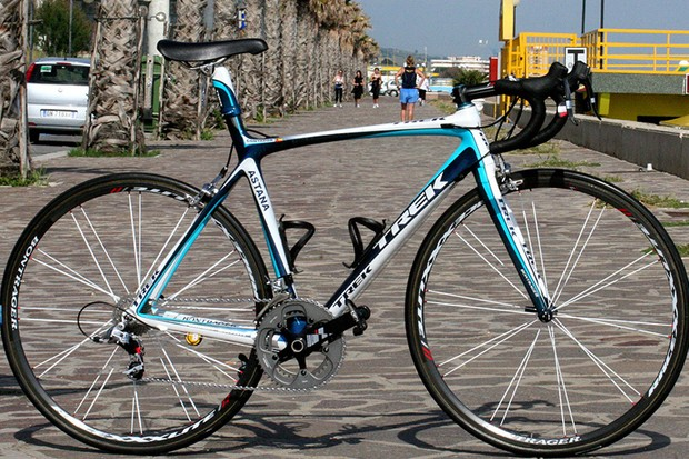 Alberto Contador's Trek Madone 5.2 is the latest evolution in the company's top range of bikes.