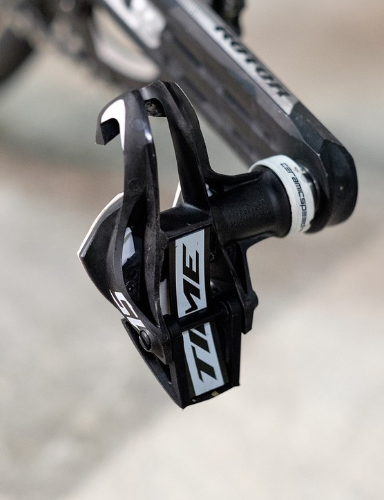 Time pedals were less than half the weight of my old Shimano Dura Ace pedals