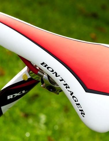 Bontrager saddle is finished with excellent detailing.