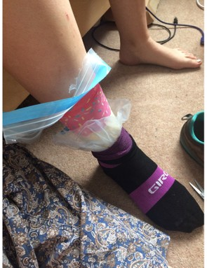 It may feel and look horrendous, but putting a plastic bag on between socks or against skin is the best way to keep your tootsies toasty