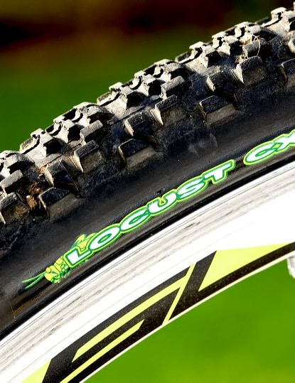The Maxxis Locust was great on the hardpack surfaces, but in a mudfest like many UK cyclocross races, you'd be advised to fit a more aggressively knobbly 'cross tyre.