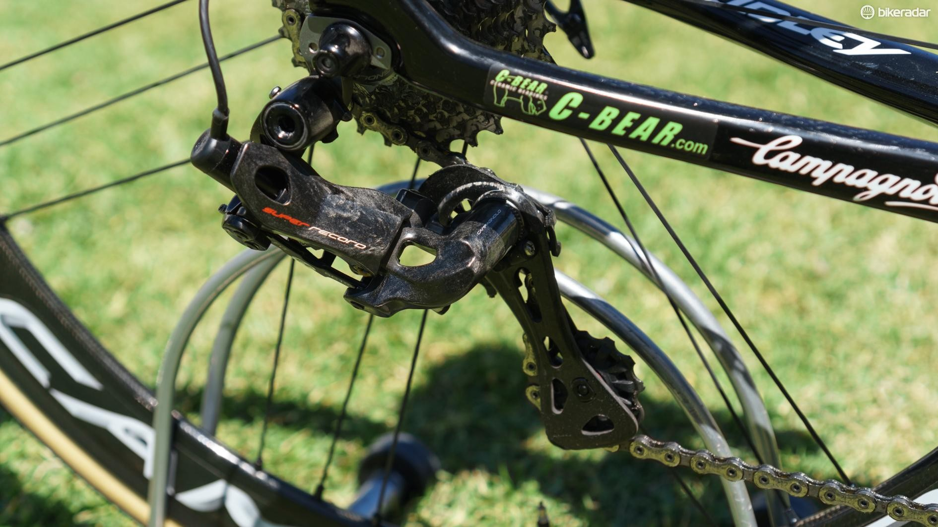 The new derailleur has a slimmer profile compared to the 11-speed version