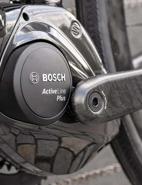 The bike is built around Bosch's Active Line Plus motor