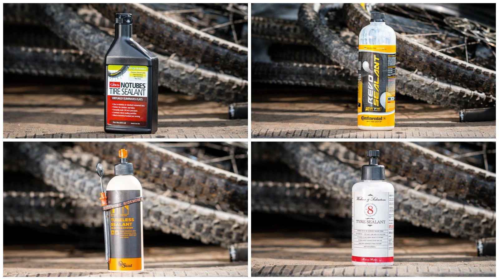 Tubeless sealant is a usually latex-based liquid that can seal small holes