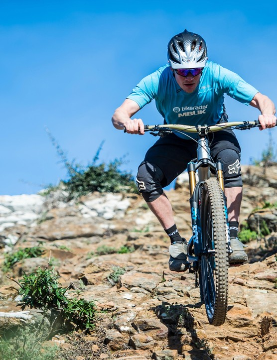 Longer, slacker, lower, and plenty confident on rocky trails
