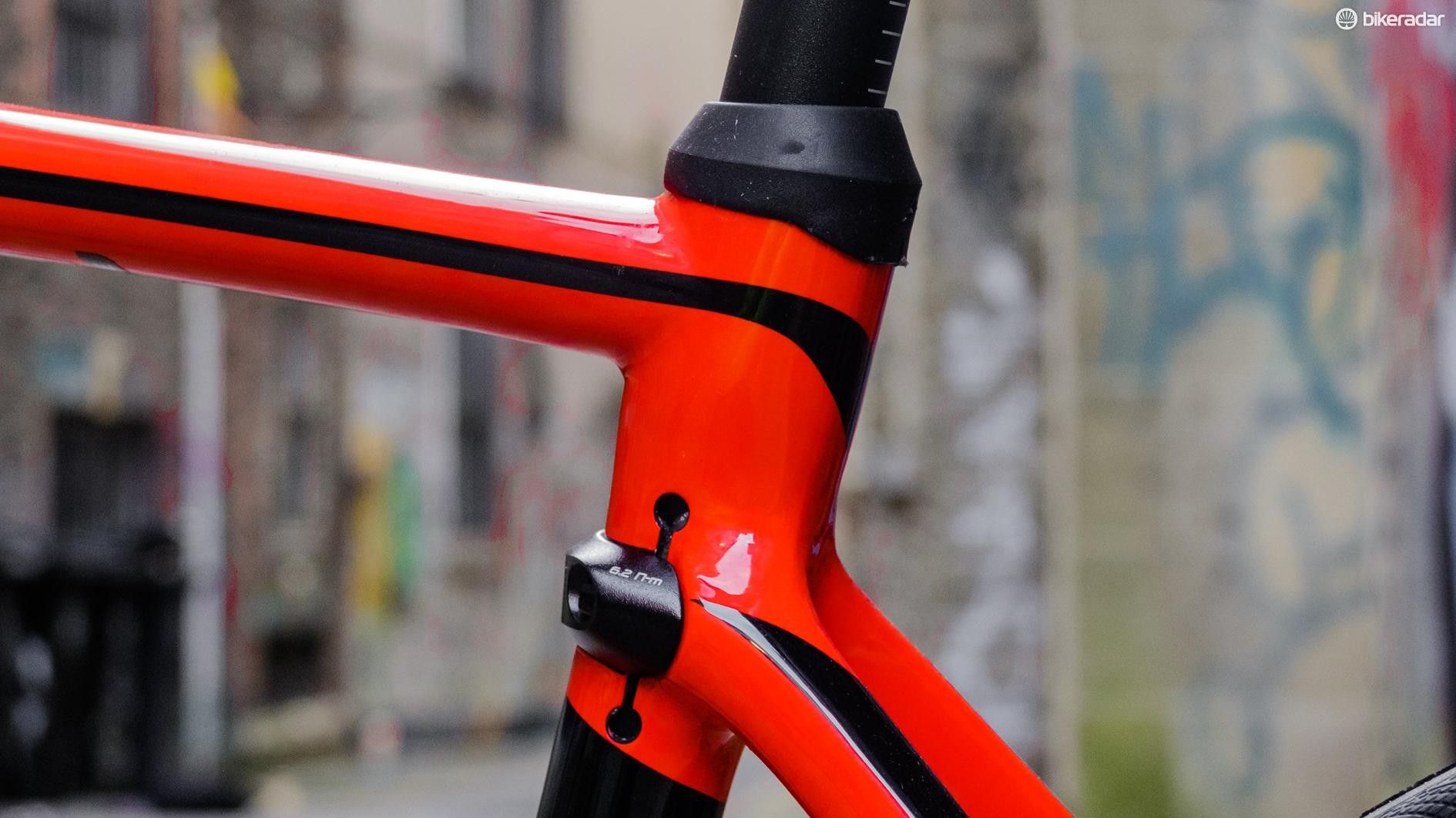 The seatstays are radically dropped to improve compliance