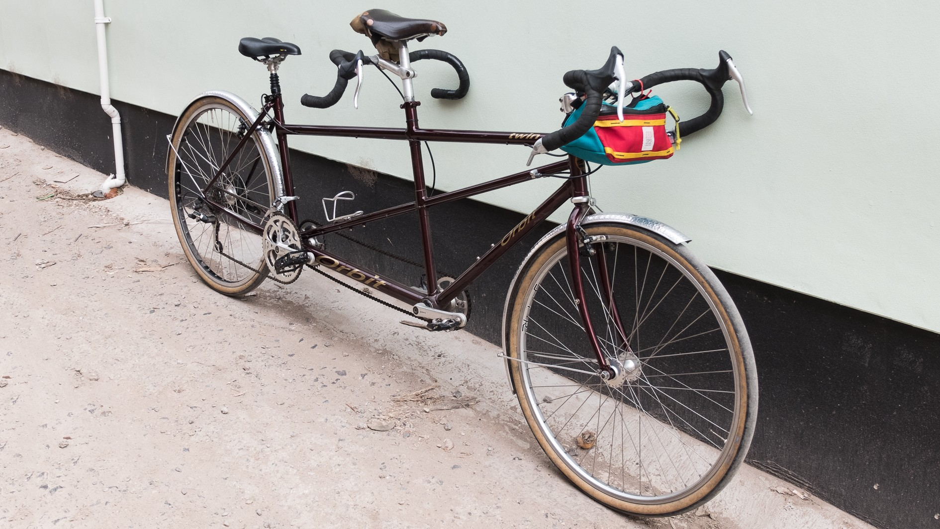 We picked up this Orbit Twin tandem for a song