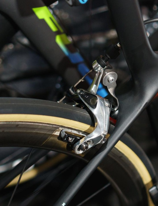 A rim brake version of the groupset has also been spotted
