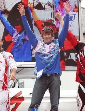 L to R: Cestnik, Rutar and Ravnik on the podium.