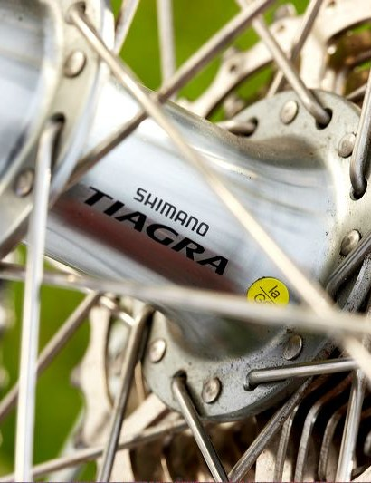 Shimano own-brand Pro wheels were comfortable and capable, especially laced to the proven Tiagra hubs