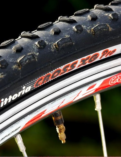 The fairly narrow Vittoria tyres that can be pumped up to a decent road pressure