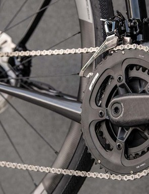 The bike can be built around either a 1x or 2x drivetrain