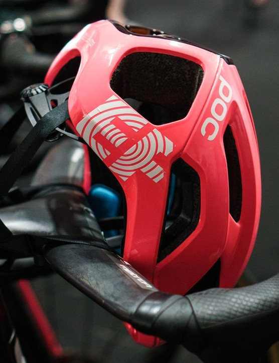 EF Pro Cycling appear to be racing with the new helmet at the Tour Down Under