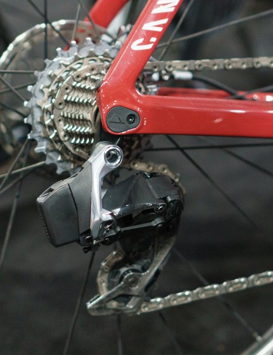 The main body of the derailleur is alloy
