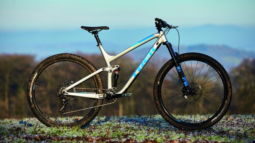 Trek's ABP system works like a linkage-driven single pivot, except the brakes sit on a floating seatstay to reduce anti-rise