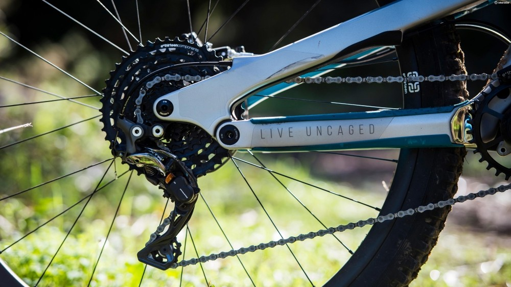 The mix-and-match e13/Shimano drivetrain isn't quite to my taste