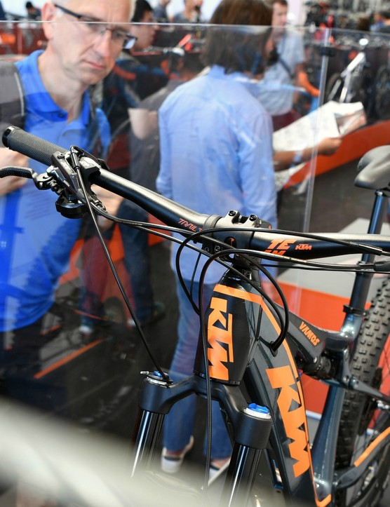 Eurobike's e-bike hall was packed with brands like Austria's KTM, which had a very busy stand