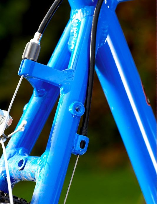 Rear eyelets for rack and guards are a boon, as is eyeletted alloy fork option.