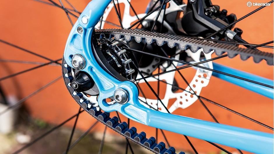A Gates Carbon Drive belt requires less maintenance than a traditional chain