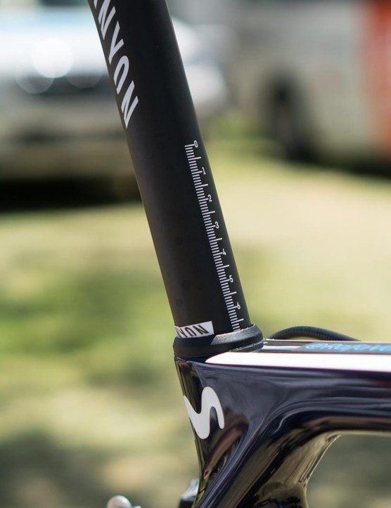 More seatposts should have height markings on them